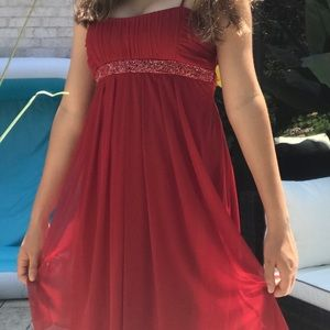 City Studio Red Beaded Dress